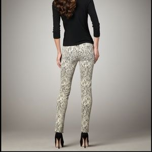 Current Elliott The Ankle Skinny canvas boa sz 28